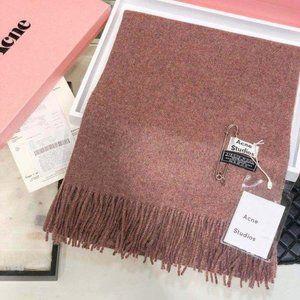 Acne studios Wine red wool scarf